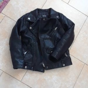 Diesel vegan leather moto jacket size 8